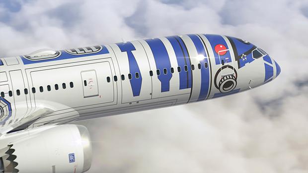 Авиакомпания показала перекраску самолёта под R2-D2. Изображение № 4.
