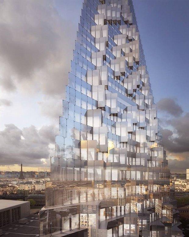 В Париже согласились строить небоскрёб-треугольник. Изображение № 4.