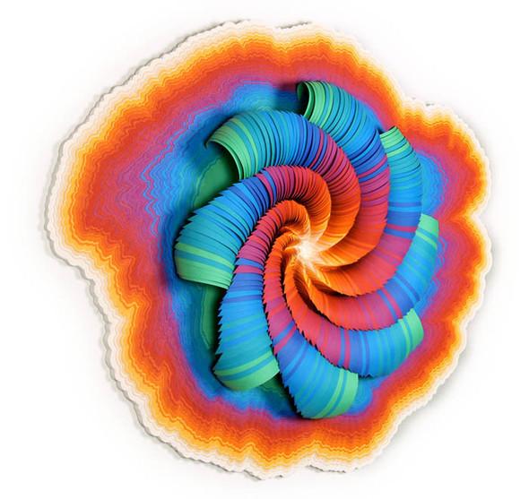 Абстракция из цветной бумаги. Изображение № 14.