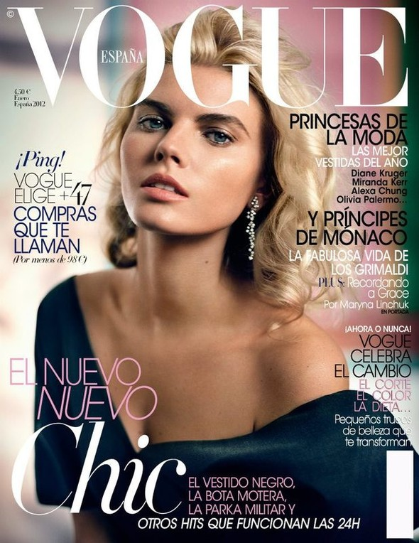 Обложки: Марина Линчук и Саския де Брау для Vogue. Изображение № 1.
