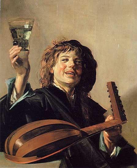 Франс Хальс, Лютнист с бокалом вина. Изображение № 7.