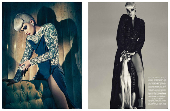 Съёмка: Кристал Ренн для немецкого Vogue. Изображение № 9.