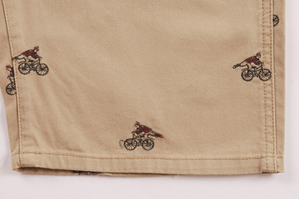 PAUL SMITH JEANS SS12 CYCLIST EMBROIDERED SHORTS. Изображение № 4.