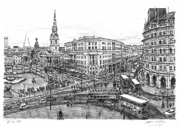 Стивен Вилтшер. Художник рисующий панорамы городов по памяти. Изображение №7.