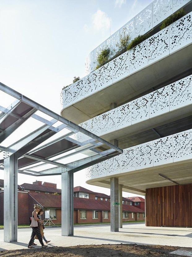 Архитектура дня: парковка сперфорацией вБельгии. Изображение № 6.