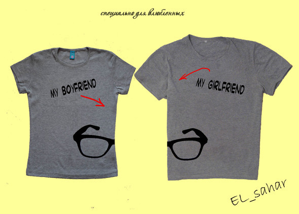 Elsaharova: половинчатые футболки на 14 февраля. Изображение № 12.