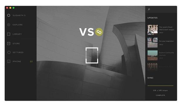 Дизайнер создал концепт приложения VSCO Cam для OS X. Изображение № 2.