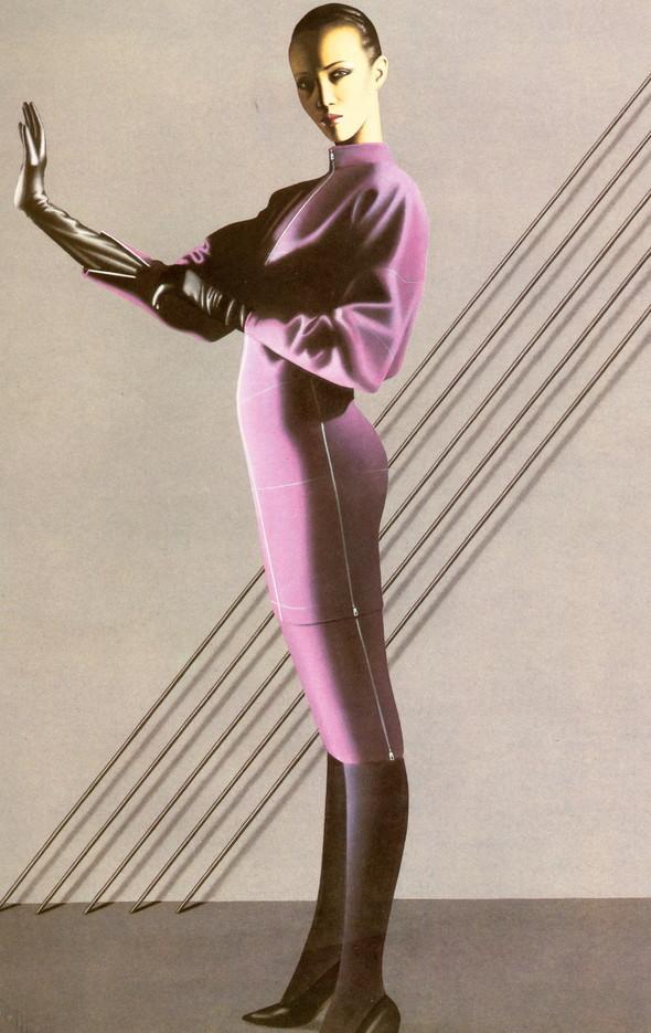 Архивная съёмка: иллюстрированная кампания Azzedine Alaia FW 1983. Изображение № 3.