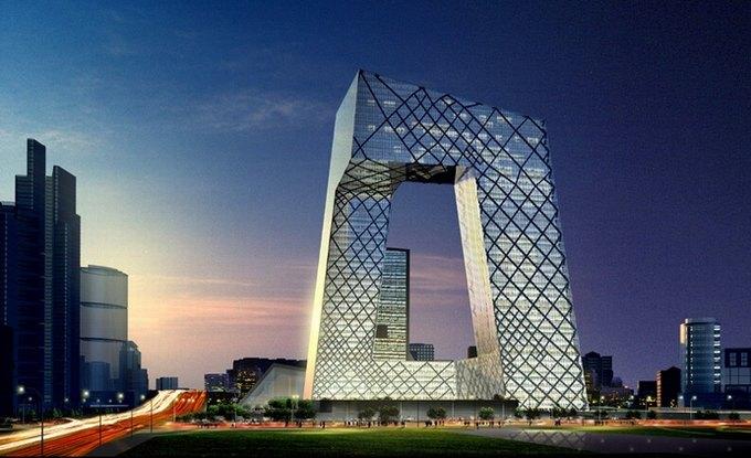 Здание CCTV в Пекине, спроектированное Ремом Колхасом. Изображение № 1.