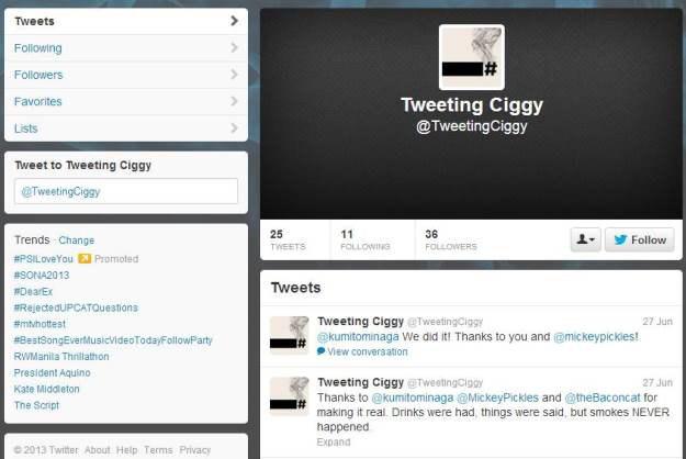 Сигарета пишет в «Твиттер», тем самым помогая бросить курить. Изображение № 2.
