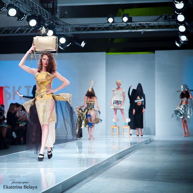 Fashion-перфоманс от SKIF Fashion. AURORA FASHION WEEK Russia SS13. Изображение № 6.