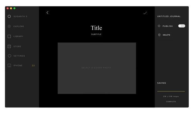 Дизайнер создал концепт приложения VSCO Cam для OS X. Изображение № 10.