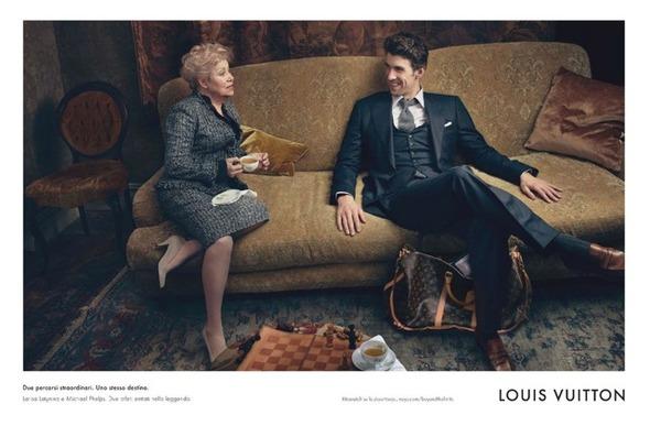Пловец Майкл Фелпс и гимнастка Лариса Латынина снялись для рекламы Louis Vuitton. Изображение № 2.