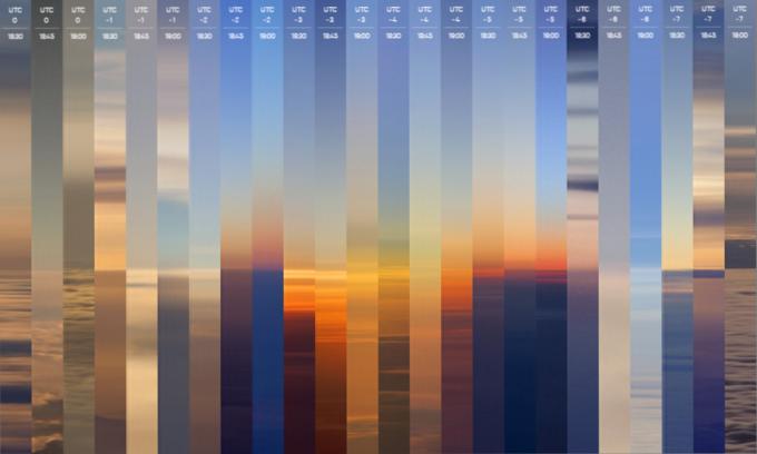 Фотограф за сутки снял закат во всех часовых поясах. Изображение № 1.
