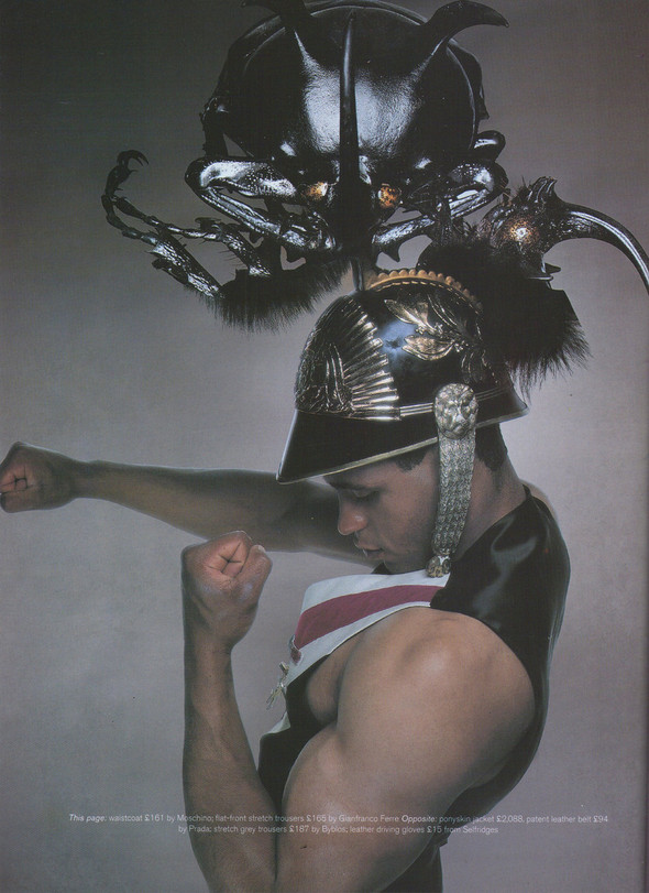 Архивная съёмка: Ник Найт для Arena Homme Plus, 1996. Изображение № 3.