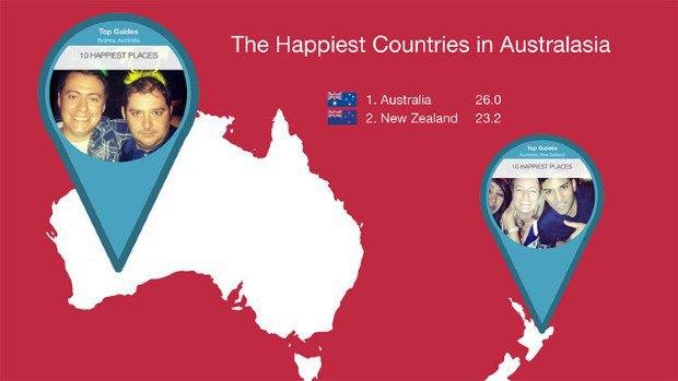 Instagram помог определить самые счастливые страны. Изображение № 4.