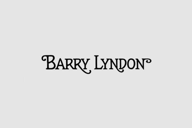 Логотип из титров или трейлера фильма «Барри Линдон». Использованы Cheltenham, рукописный. Изображение № 28.