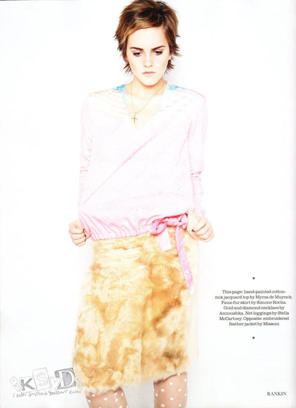 Съёмка: Эмма Уотсон и Ранкин для Elle. Изображение № 3.