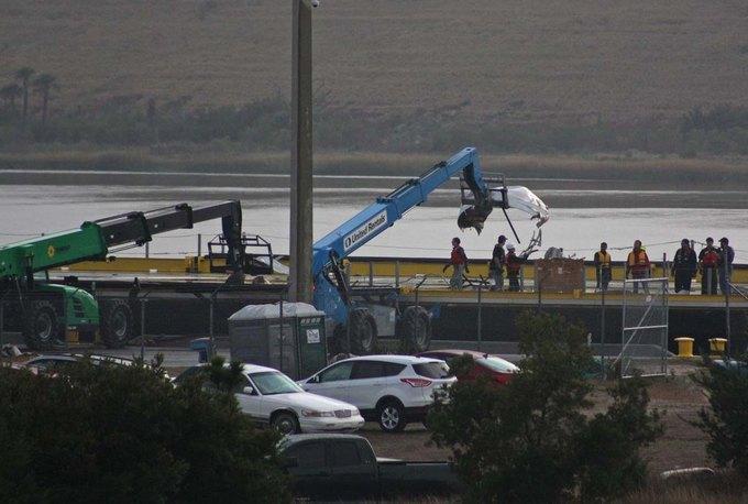 Фото: что осталось от ракеты Falcon9. Изображение № 10.