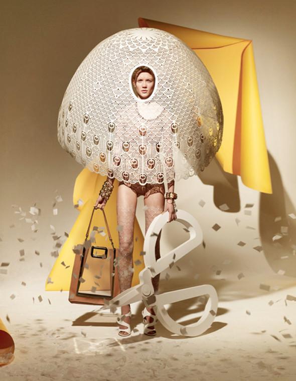 Платья из бумаги: Мэтью Броди для журнала Madame. Изображение № 9.