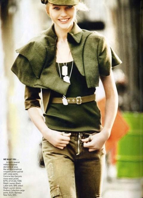 Изображение 4. Фотосессия в Vogue в стиле милитари.. Изображение № 4.