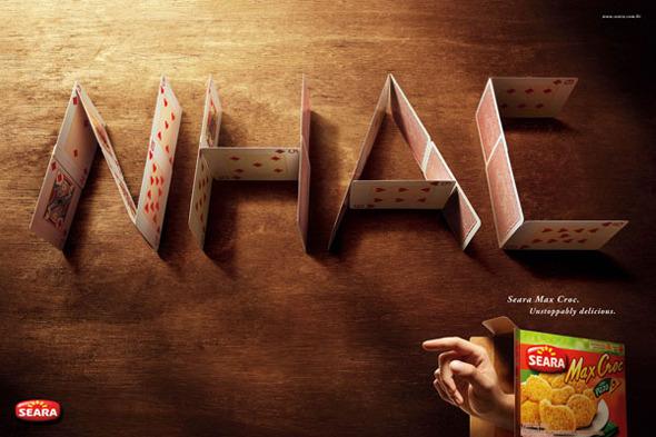50 примеров использования типографики в рекламе. Изображение № 16.