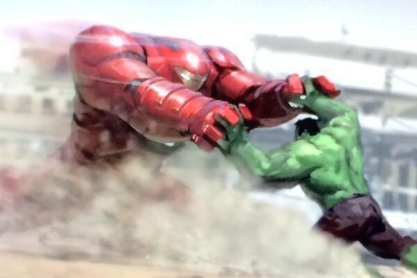 Концепт-арт к фильму «Мстители: Эра Альтрона»: Халкбастер и Халк. Изображение № 1.
