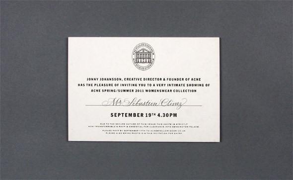 Изображение 2. Womenswear collections S/S 2011: show invitations.. Изображение № 2.