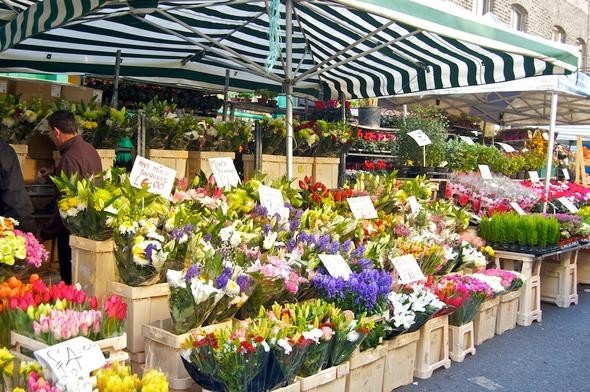 London Columbia street Flower market. Изображение № 3.