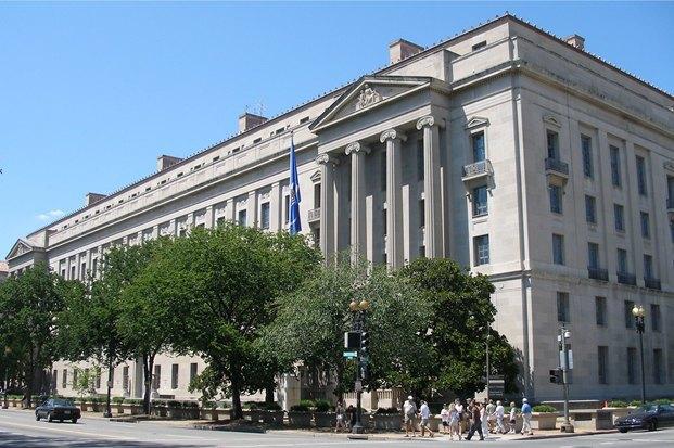 Здание Министерства юстиции США в Вашингтоне. Изображение № 1.