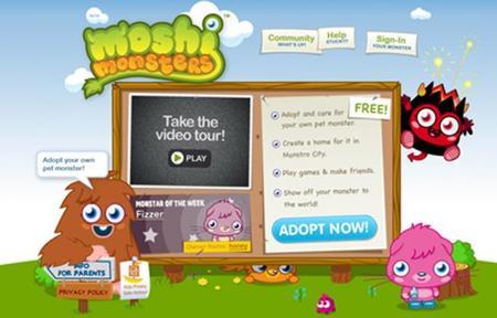 Moshi Monsters-Социальная Игровая Сеть дляваших Деток. Изображение № 2.