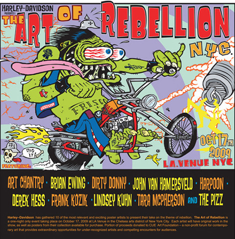 Art of Rebellion (Harley Davidson, NY). Изображение № 1.