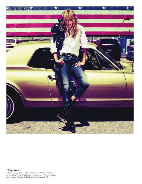 Съёмка: Аризона Мьюз, Лара Стоун, Наташа Поли и другие модели во французском Vogue. Изображение № 6.