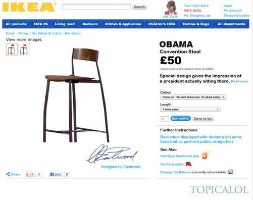 Выборы, выборы: Барак Обама, Клинт Иствуд и стул. Изображение № 5.