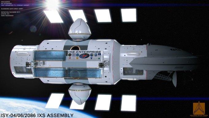 Опубликован концепт корабля NASA с варп-двигателем . Изображение № 2.