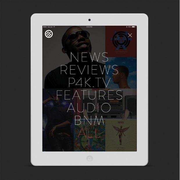 Pitchfork запускает новое мобильное приложение. Изображение № 2.