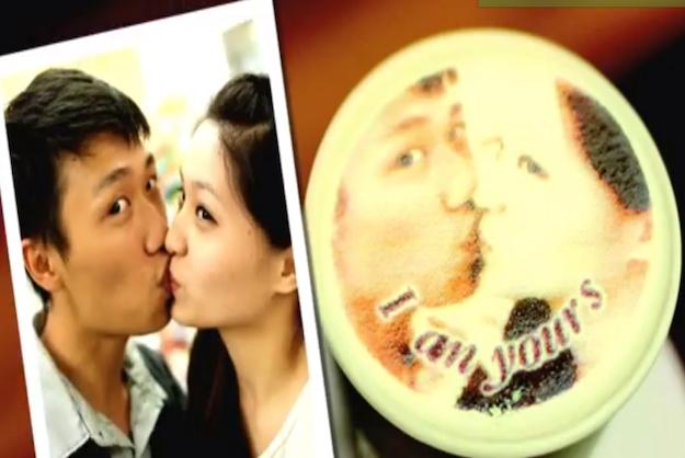 В тайваньском кафе на пенке латте печатают портреты клиентов. Изображение № 2.