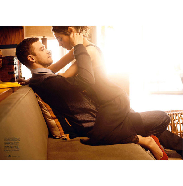 Съёмка: Мила Кунис и Джастин Тимберлейк для Elle. Изображение № 4.