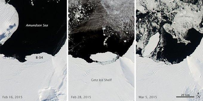 Фото дня: формирование айсберга в Антарктиде . Изображение № 1.