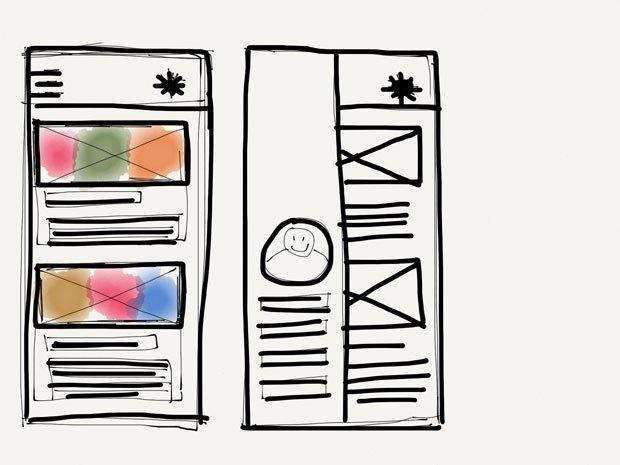 Первый экран: фид новостей, второй: профиль пользователя. Изображение № 1.