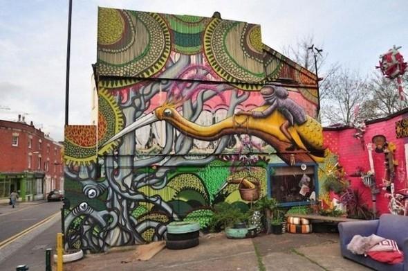 Изображение 4. Бристоль. Художественное граффити.. Изображение № 6.