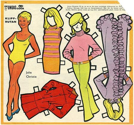 Бумажные куклы 1960-х годов!. Изображение № 9.