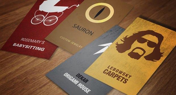 Дизайнеры создали визитные карточки героев Голливуда. Изображение № 1.
