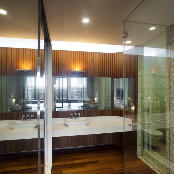 «Трехпалубная» вилла от Aamer Architects. Изображение № 9.