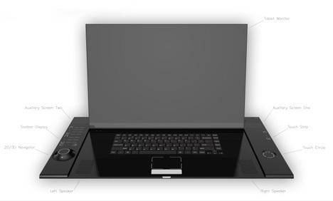 Интересный концепт ноутбука длядизайнеров ихудожников. Изображение № 1.