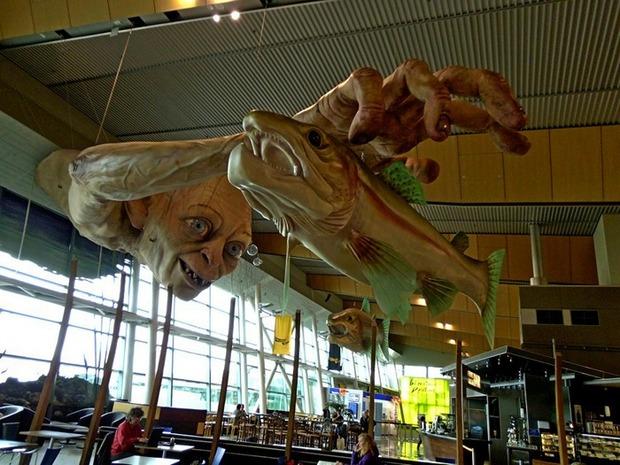 В аэропорту Веллингтона построили гигантскую скульптуру Горлума. Изображение № 1.