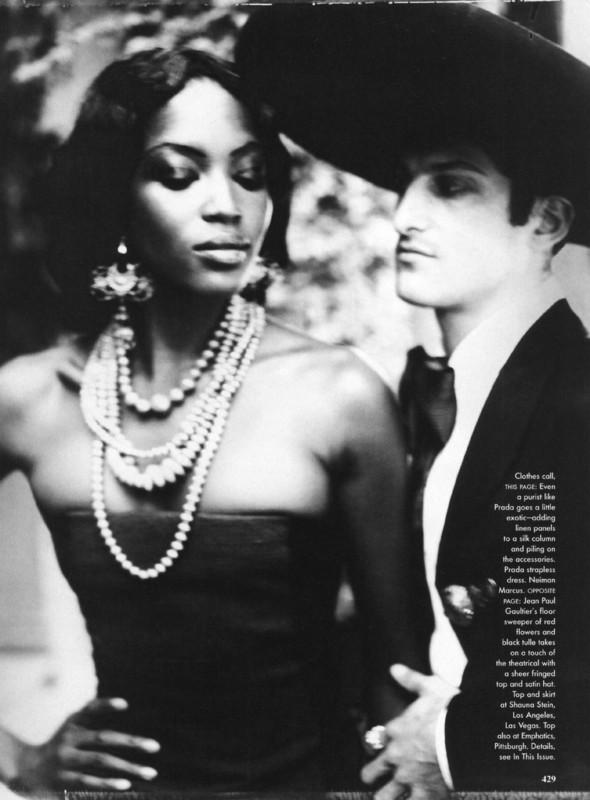 Архивная съёмка: Наоми Кэмпбелл и Эллен фон Унверт для Vogue, 1998. Изображение № 7.