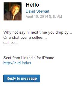 Странные письма из LinkedIn собирают в блоге CreepedIn. Изображение № 3.