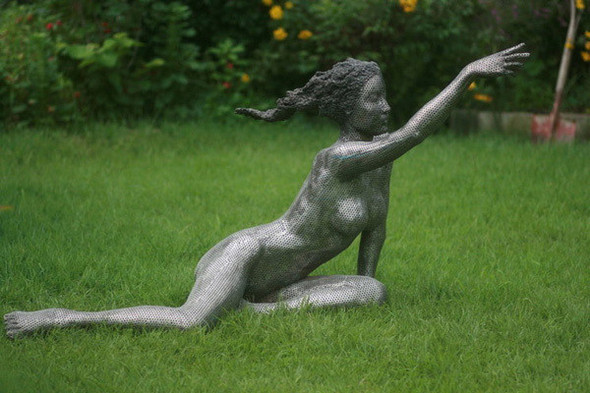 """Скульптуры из """"ломтиков"""" металла. Park Chan Girl. Изображение № 5."""