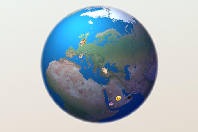 Разработчик создал интерактивную карту с трансляцией Emoji из Twitter . Изображение № 4.